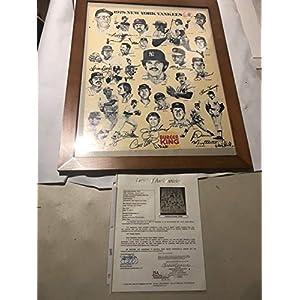 1978 New York Yankees Team Autographed Signed Burger King Poster JSA Authentic Memorabilia 23 Signatures