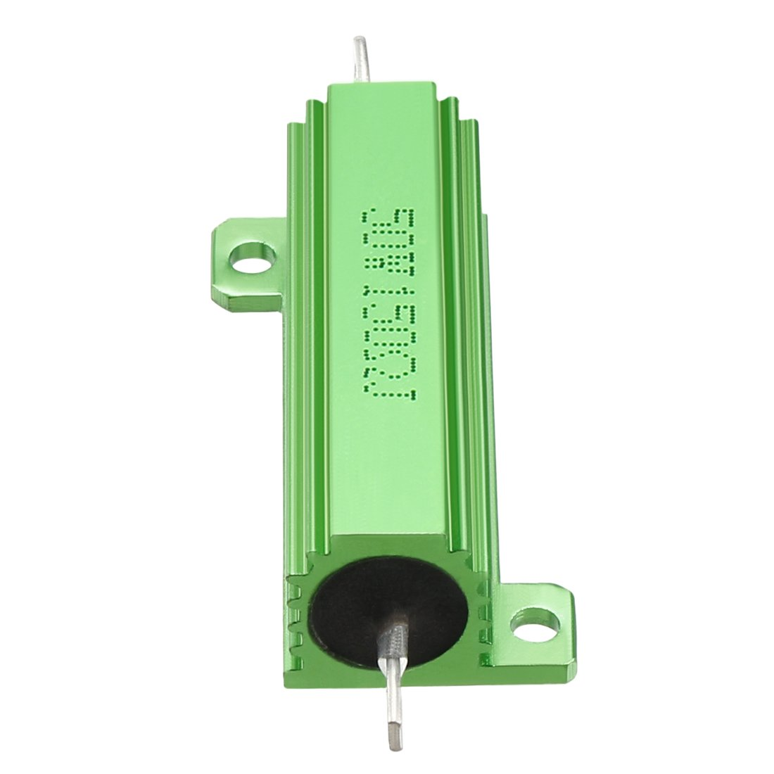 sourcing map 50W 150 Ohm 5/% Aluminum Housing Resistor Screw Tap Chassis Mounted Aluminum Case Wirewound Resistor Load Resistors Green 2 Pcs
