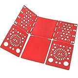 Boxlegend v2 shirt folding board t shirts clothes folder durable plastic laundry folders folding boards flipfold, red