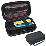 Sinbomay EVA Pencil Case- Big Capacity Multifuntion Pouch/Stationery Pencil/Pen Box Holder/EDC Utility Gadget Bag for Adults Outdoor Travelling/Cosmetic Makeup Storage Box (Black)