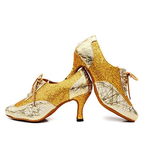 Misu Dorado Para Mujer Danza De Zapatillas RwqqTrn01O