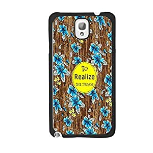Customized Wood-print Pattern Protective Cell Phone Cover Case for Samsung Galaxy Note3 N9005 ,Hard Plastic Shell Back Phone Case (monogram blackju5245)