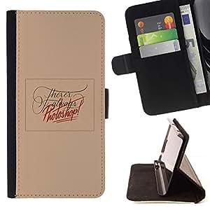 Momo Phone Case / Flip Funda de Cuero Case Cover - Edición de fotos Peach divertido texto Red - Samsung Galaxy Note 3 III