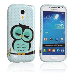 Einzige Slim Fit Flexible TPU Case for Samsung Galaxy S4 Mini i9190(Sleepy skyblue Owl)
