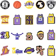 Crocs Charms for Men Women Boys Basketball and Football Fans, Sports Ball Decoration Charms for Crocs Shoes Wr