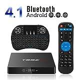 YAGALA T95Z Max TV Box Android 7.1 Amlogic S912 3GB/32GB Bluetooth 4.1 Octa Core 4K Video Player Dual WiFi 2.4/5GHz [Free Mini Backlight Keyboard]