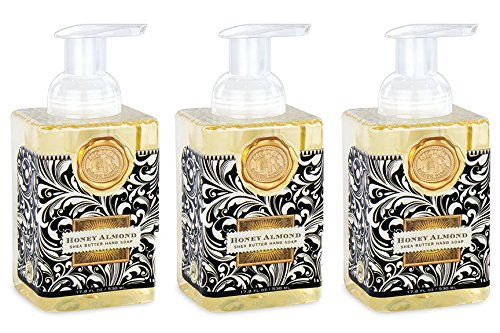 Michel Design Works Foaming Hand Soap, 17.8-Ounce, Honey Almond - 3-PACK