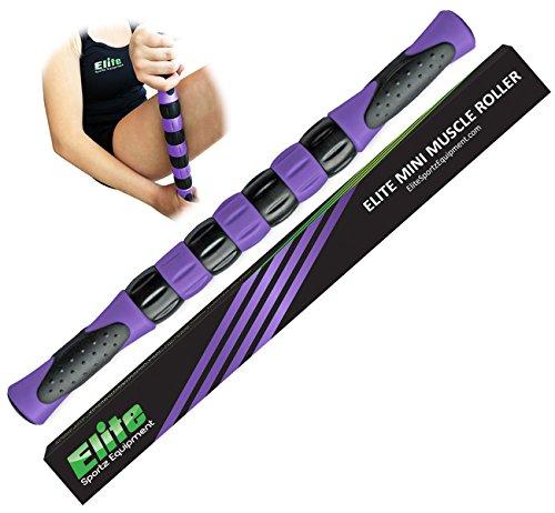 La élite de la pierna de rodillos palillo para corredores - músculo rápido alivio de músculos doloridos y firmemente la pierna y calambres - púrpura