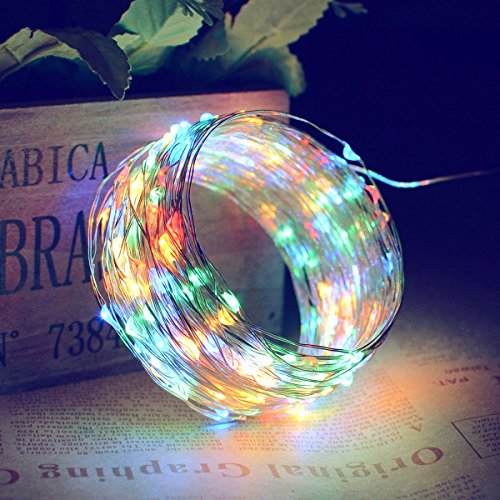 Solar Powered String Lights, 150 LED 50ft Copper Wire Starry Fairy String Lights, Outdoor Waterproof IP65 Christmas Decoration Lights for Gardens, Home, Wedding,Dancing, Party(Multi-Color) (Light Sale Outdoor)