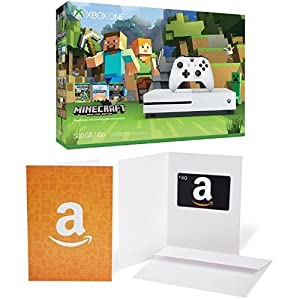 Xbox One S 500GB Console - Minecraft Bundle + $40 Amazon Gift Card