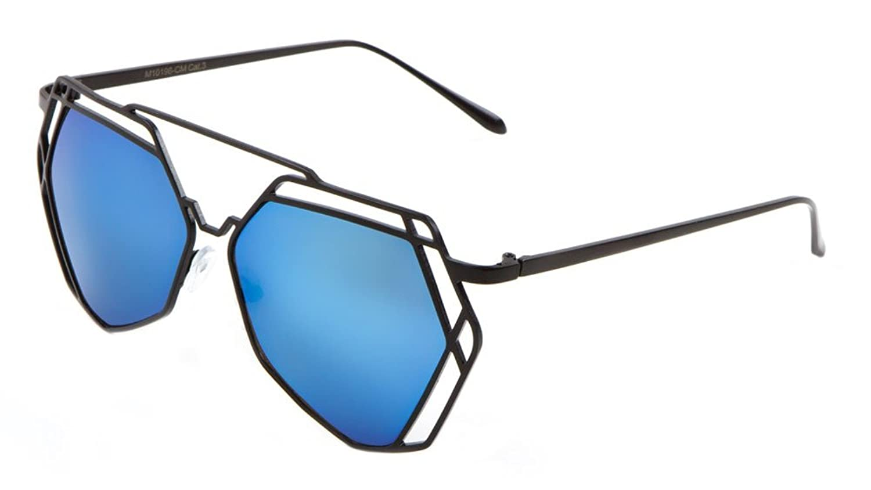 Geometric Wire Metal Lattice Frame Sunglasses delicate - enstal.lu