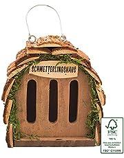 Gardigo Casette per Farfalle, Legno Naturale, 16 x 15,5 x 10 cm
