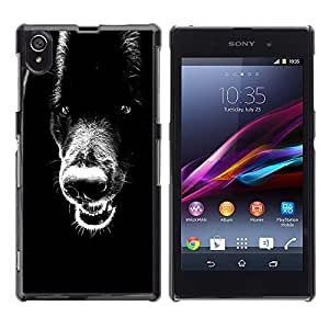 Vortex Accessory Carcasa Protectora Para Sony Xperia Z1 L39 C6902 C6903 C6906 C6916 C6943 - Black Retriever Teeth Plott Wolf Dog -