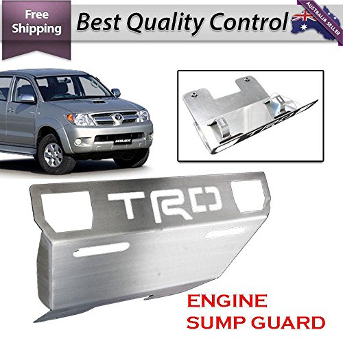 Front Bash Plate - Front Sump Guard Skid Bash Plate Alloy 4mm TRD Toyota Hilux Vigo SR5 2005 Onward