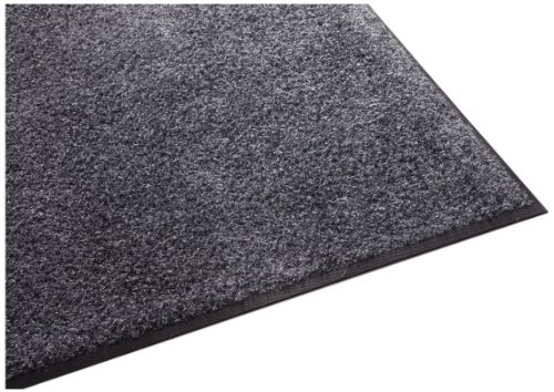 Guardian Platinum Series Indoor Wiper Floor Mat, Rubber with Nylon Carpet, 2'x10', Grey ()