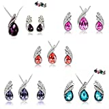 AmaziPro8 Fashion Jewelry Sets – Set includes Fashion Jewelry Earrings + Pendant + Necklace - Crystal High-Grade fashion jewelry for women