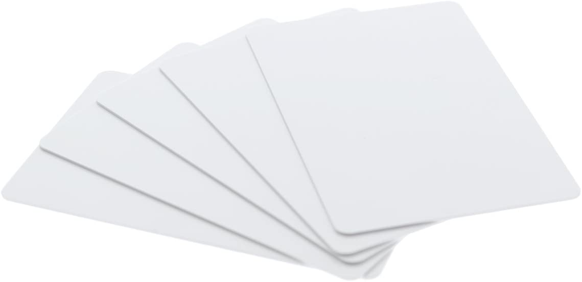 Bulk 500 Pack - Premium Blank PVC Cards for ID Badge Printers - Graphic Quality White Plastic CR80 30 Mil (CR8030) by Specialist ID - Compatible with Most Photo ID Badge Printers (White)