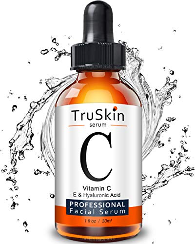 TruSkin Vitamin C Serum for Face with Hyaluronic Acid, Vitamin E, Witch Hazel, 1 fl ounces