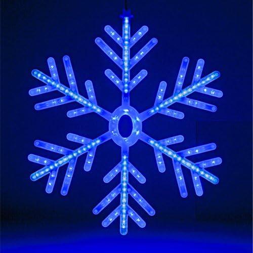 Acrylic snowflake Static /& 12 flickering  W//W LED 100cm