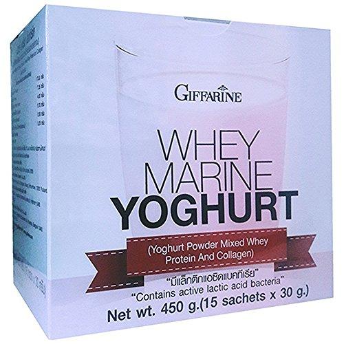 Giffarine Whey Marine Yoghurt Powder Mixed Whey Protein & Collagen (15 Sachet x 30 g)