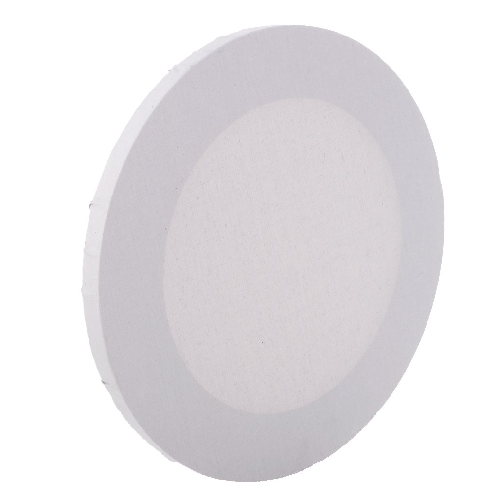 Jili Online Professional White Round Blank Stretched Canvas for Painting Craft Supplies - 20cm
