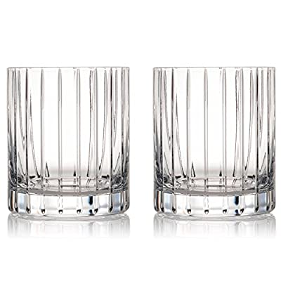 Rogaska Crystal Avenue Double Old Fashioned Glass, Pair