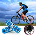 ICOCOPRO BMX Mountain Bike Pegs Aluminum Alloy Foot Stunt Pegs Cylinder-Black,Red,Silver,Blue,Orange-Blue