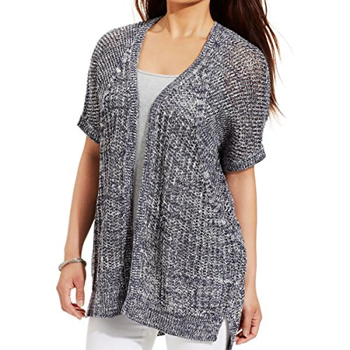 DKNY Jeans Womens Dolman Sleeves Open Front Cardigan Sweater Gray XL
