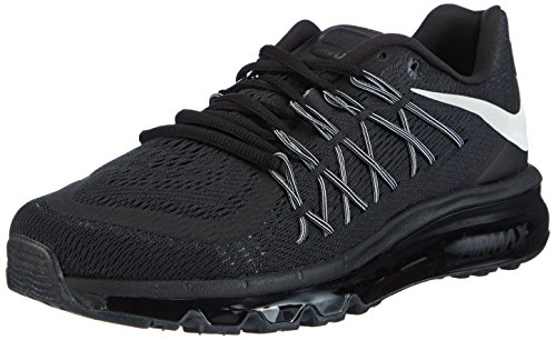 faffe3db381 Nike Air Max 2015 Mens Running Shoes Black White 698902-001 (9 D(M) US)  (B00QD5CLSU)