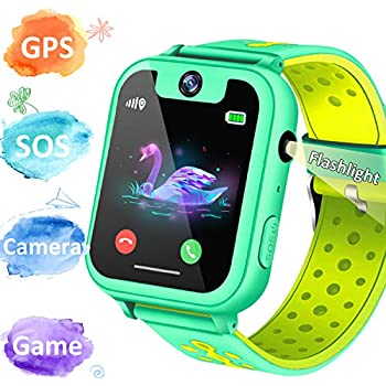 1.55 Kid GPS Smart Watch Phone -GPS Tracker Smart Wrist Watch Phone for 3-12 Year with SOS Game Camera Anti-Lost Game Smartwatch Educational Holiday ...
