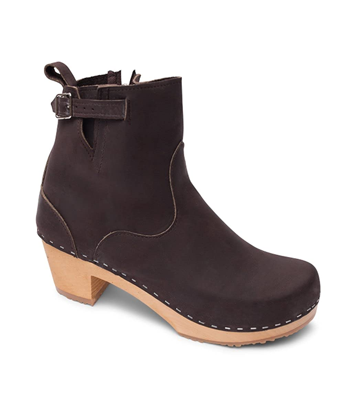 79ef0ac2f29d7 Sandgrens Swedish High Heel Wooden Clog Boots for Women | New York