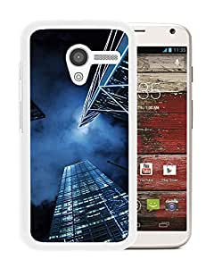 Unique Designed Cover Case For Motorola Moto X With Mn Buildings Blue Night City Sky (2) Phone Case