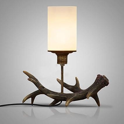 CCSUN Personality Bedside nightstand lamp, Retro Antique ...