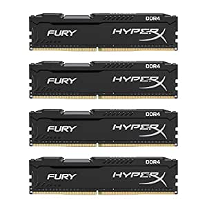 HyperX Kingston Technology FURY Black 64 GB Kit 2133 MHz CL14 DIMM DDR4 Internal Memory (HX421C14FBK4/64)