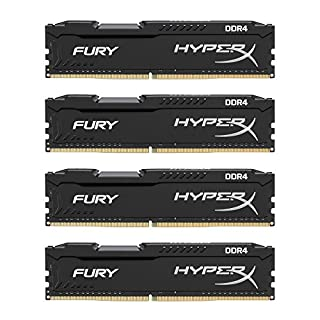 Kingston Technology HyperX Fury Black 64GB 2666MHz DDR4 CL16 DIMM Kit of 4 (HX426C16FBK4/64) (B06XNPSZY4) | Amazon price tracker / tracking, Amazon price history charts, Amazon price watches, Amazon price drop alerts