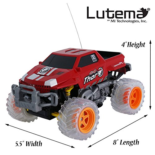 Lutema Extreme Pickup 4CH Remote Control Truck, Red (Remote Control Car Lutema)