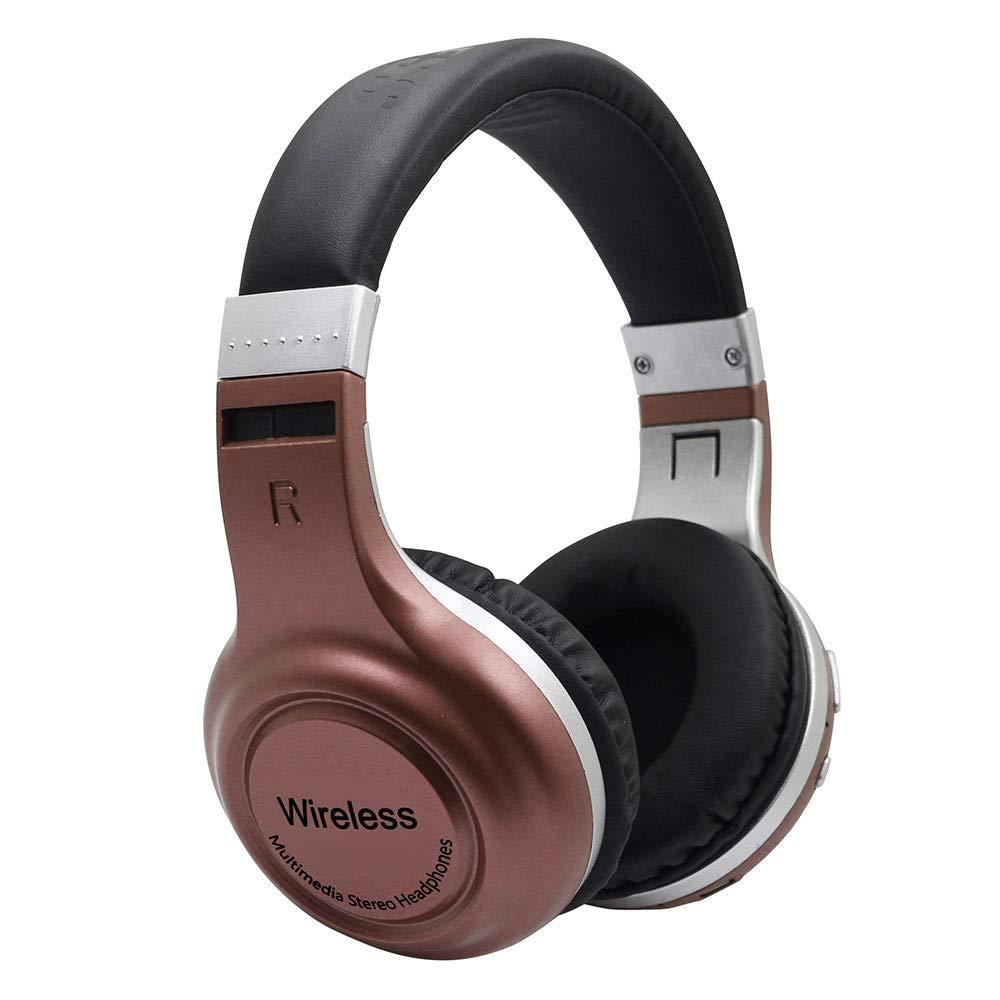 正規通販 MiniPoco ワイヤレスヘッドフォン M Bluetooth 4.1 ヘッドセット B07H2ZDNVY ステレオサウンド ノイズキャンセリング オーバーイヤー Microph付き ブラウン M ブラウン ブラウン B07H2ZDNVY, kabeコレ:0ad30377 --- nicolasalvioli.com