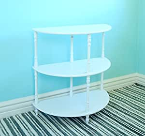 Frenchi Home Furnishing Multi-Tiered End Table, White