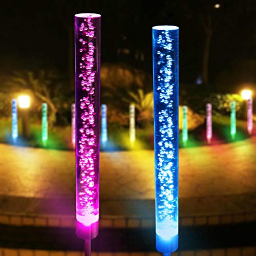 YXYQR Outdoor Solar Garden Lights, Color Changing ()