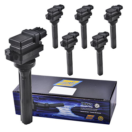 Set of 6 Herko B034 Ignition Coils For Suzuki L4 V6 1.8L 2.0L 2.5L 1998-2002