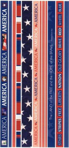 America Photo Banner Ribbon Border Scrapbook Stickers (Cloud 9 Design Photo Banner)