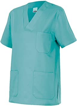 Velilla 589/C28/T2 Camisola pijama de manga corta con escote en pico, Turquesa Claro, 2