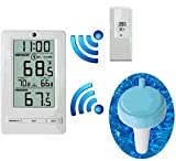 Ambient Weather WS-0802-F008PFN 8-Channel Floating Pool and Spa Thermometer with Outdoor Remote Thermometer