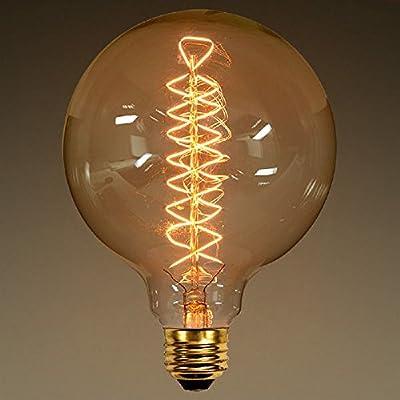 Vintage lighting fixtures Spiral Light Vintage Light Bulb 40 Watt G40 Globe In Diameter Spiral Filament Amber Tinted Amazoncom Democraciaejustica Vintage Light Bulb 40 Watt G40 Globe In Diameter Spiral Filament