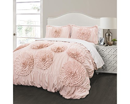 picture of Triangle Home Fashions Serena Comforter 3Pc Set - Full/Queen - Pink Blush