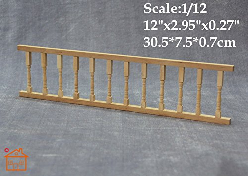 1:12 DIY Dollhouse Miniature Fences Bar Picket Fence Balusters Railing/Lot 2 - Baluster Bar