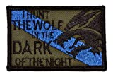 Sheepdog I Hunt the Wolf Thin Blue Line 2x3 Military Patch / Morale Patch - Olive Drab
