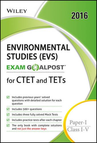 Wiley's Environmental Studies (EVS) Exam Goalpost for CTET and TETs; Paper-I; Class I-V