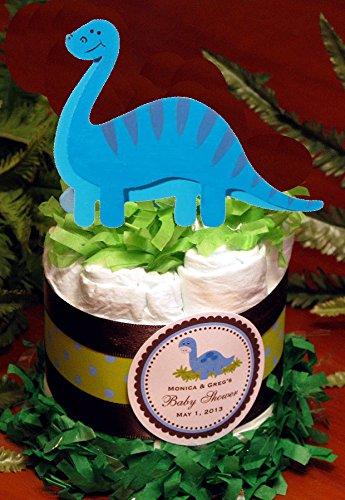 Amazon Blue Dino Dinosaur Baby Shower Mini Diaper Cakes