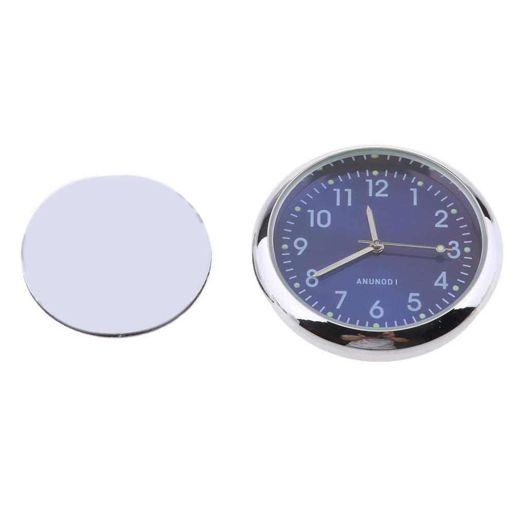 MagiDeal Mini Wasserdichte Stick-on Motorrad Uhr Uhr Motorrad Auto Uhr - Fluoreszierendes Schwarz